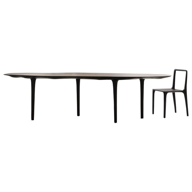 Unique Sculptural Dining Table Signed by Cedric Breisacher For Sale