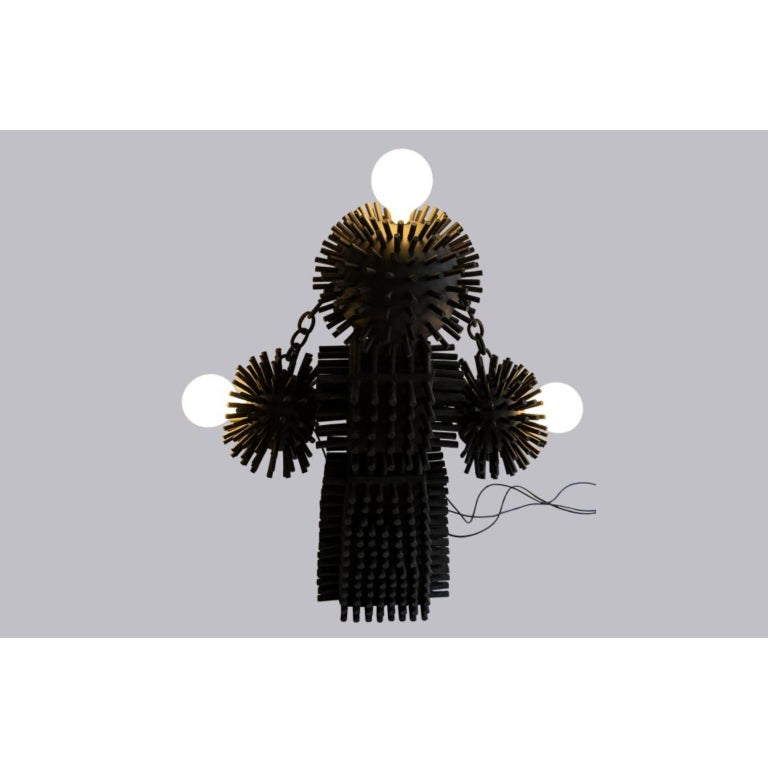 Modern Unique Sculptural Lighting Structure by Ia Kutateladze For Sale