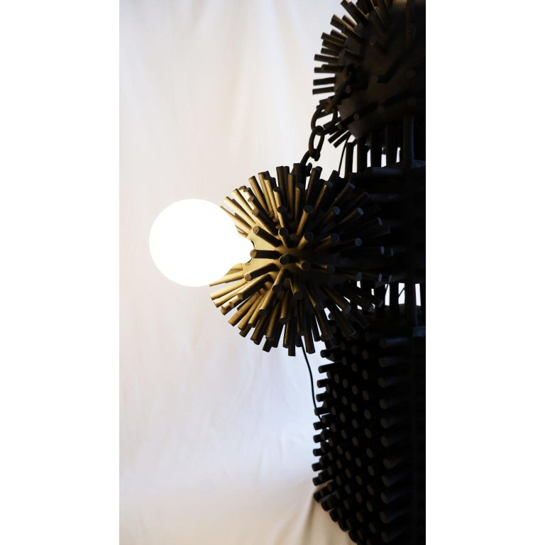 German Unique Sculptural Lighting Structure by Ia Kutateladze For Sale