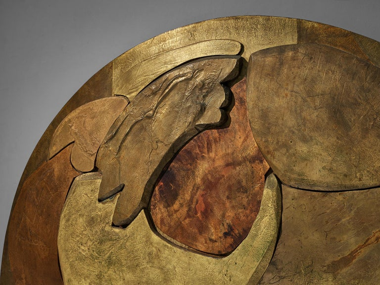 Unique Sculptural Lorenzo Burchiellaro Handcrafted Headboard in Wood and Metal For Sale 3