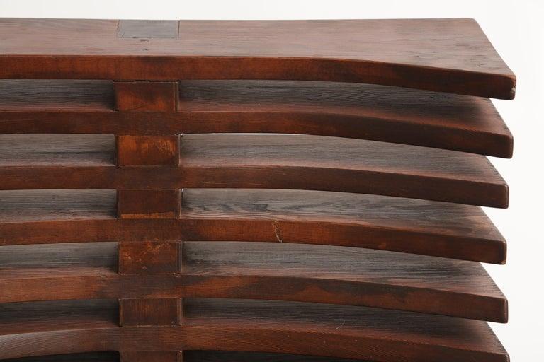 Unique Sculptural Pine Chair For Sale 5