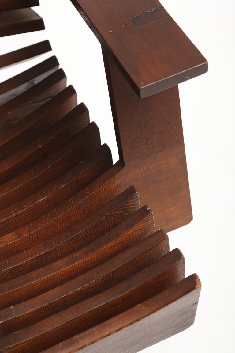 Unique Sculptural Pine Chair For Sale 6