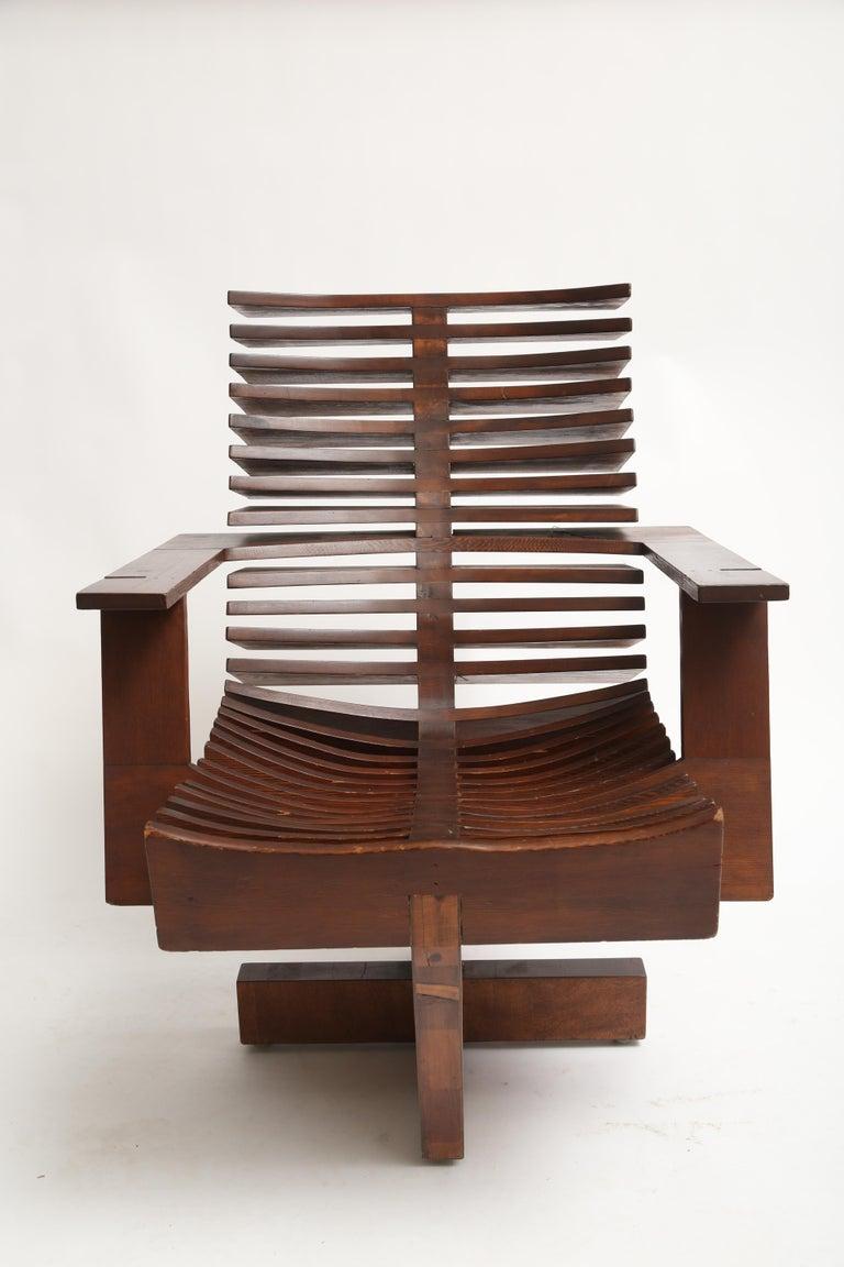 American Unique Sculptural Pine Chair For Sale
