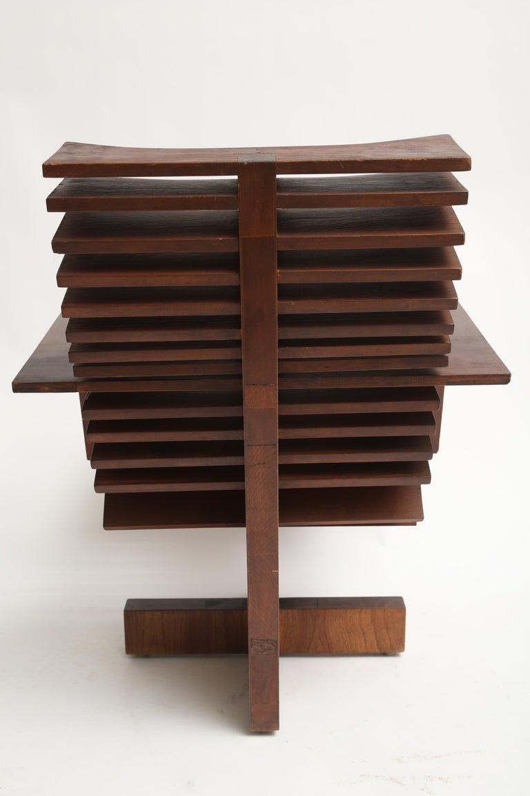 Late 20th Century Unique Sculptural Pine Chair For Sale