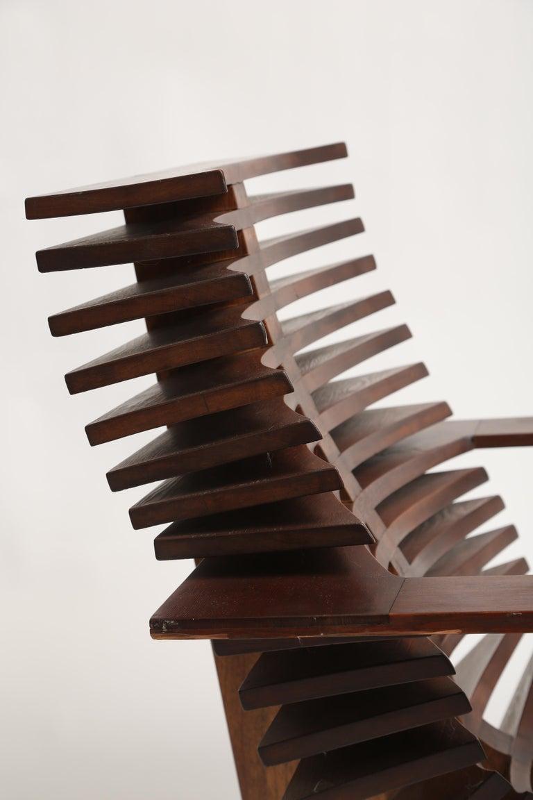 Unique Sculptural Pine Chair For Sale 1