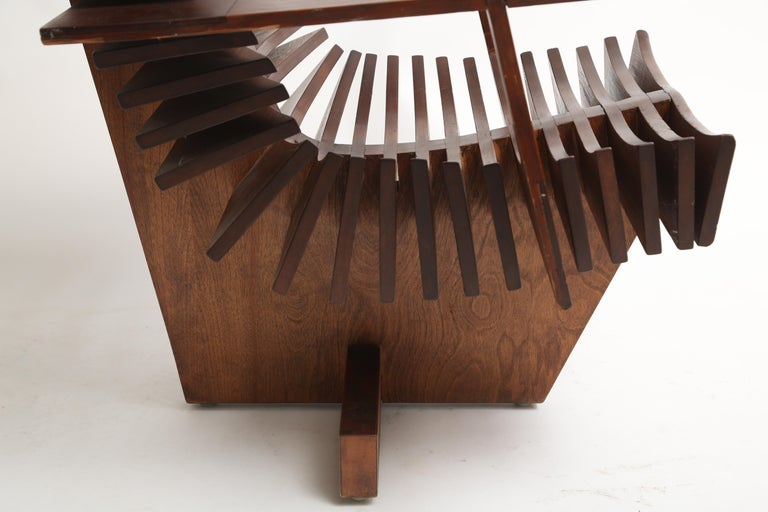 Unique Sculptural Pine Chair For Sale 2