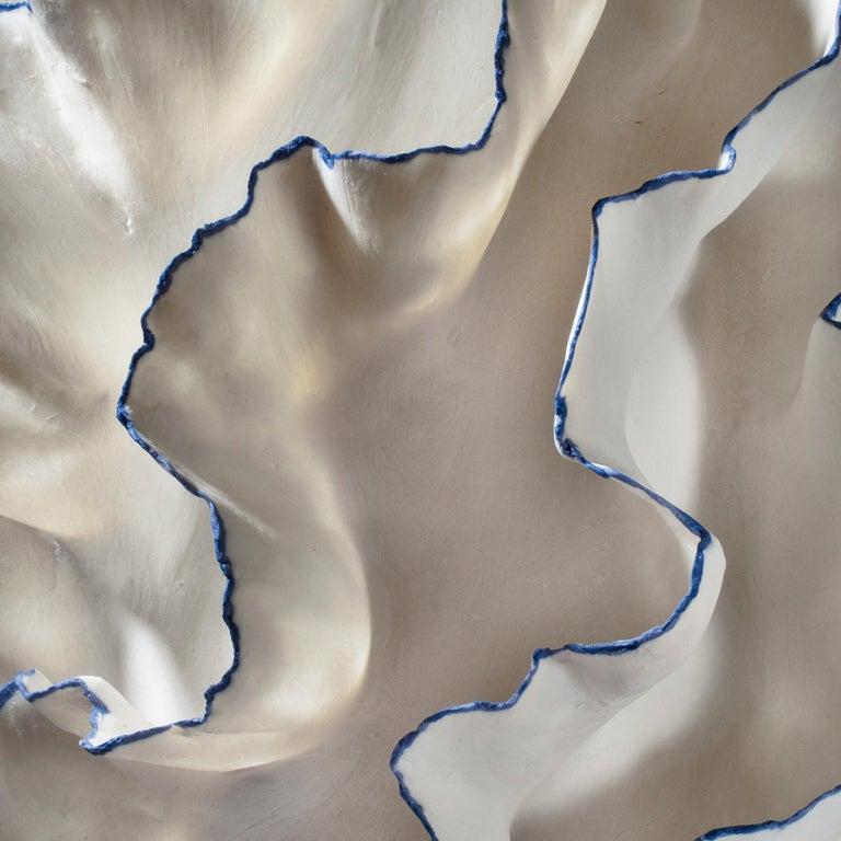 Sandra Davolio Vessel with blue edges VI, 2019 Porcelain, unique.