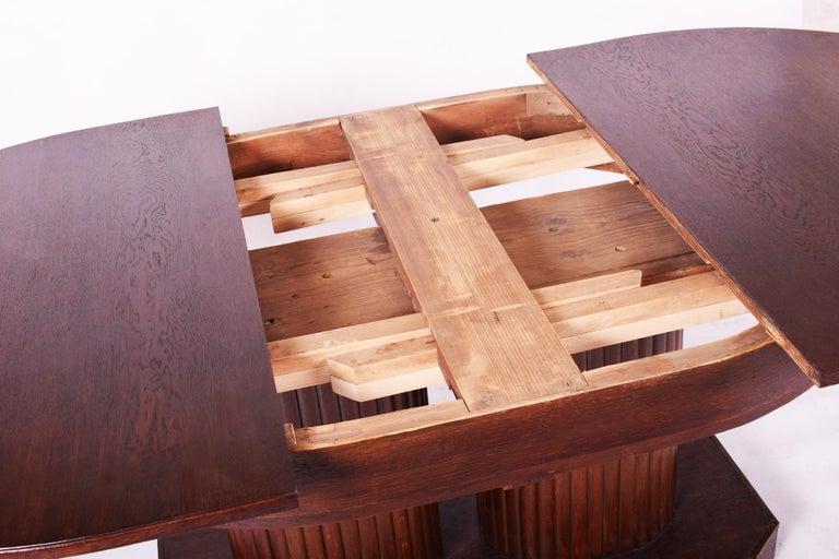 Unique Secession Large Extendable Dining Table, Vienna Secession, Otto Prutscher For Sale 4