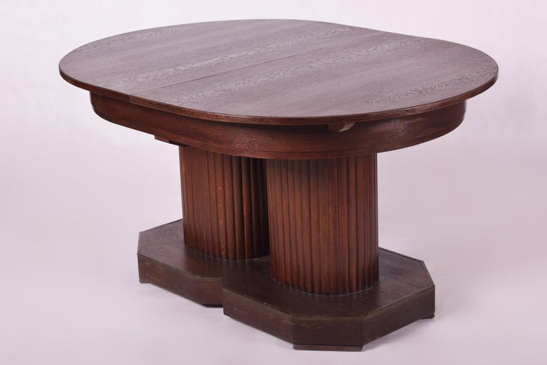 Unique Secession Large Extendable Dining Table, Vienna Secession, Otto Prutscher For Sale 5
