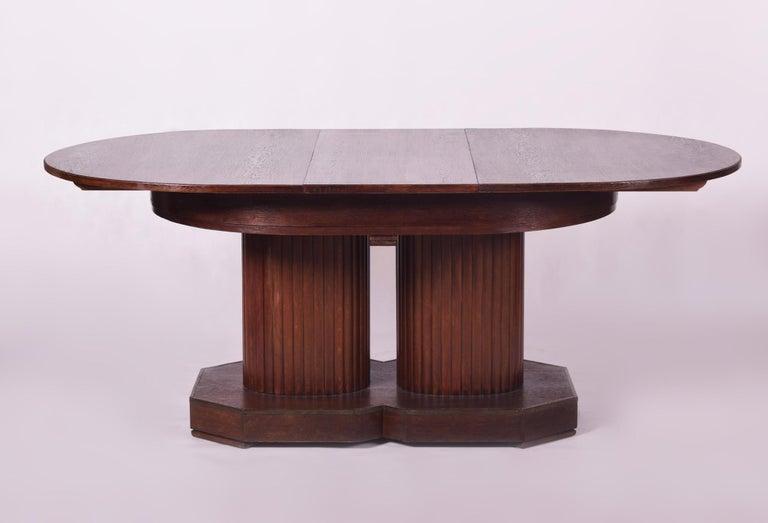 Austrian Unique Secession Large Extendable Dining Table, Vienna Secession, Otto Prutscher For Sale