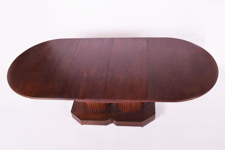 Unique Secession Large Extendable Dining Table, Vienna Secession, Otto Prutscher In Good Condition For Sale In Prague 1, CZ