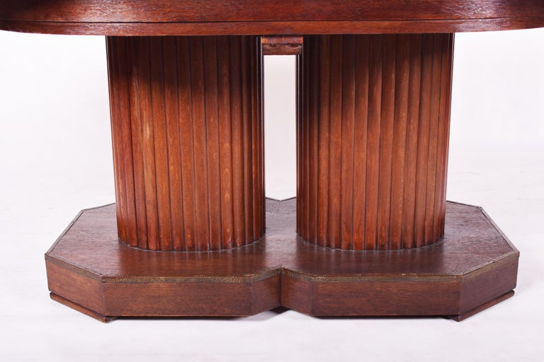 Early 20th Century Unique Secession Large Extendable Dining Table, Vienna Secession, Otto Prutscher For Sale