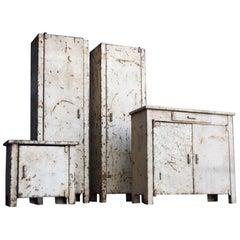 Unique Set of 1920s Tin Handmade Victorian Apprentice Furniture Examples