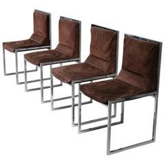 """Unique Set of Four """"Wright/Wright"""" Chairs by Nanda Vigo for Driade"""
