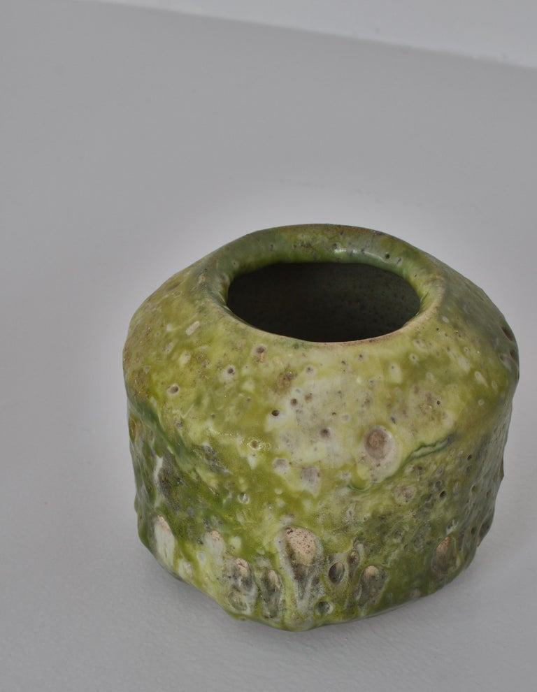 Unique Set of Green Stoneware Vases by Ole Bjørn Krüger, 1960s Danish Modern For Sale 2