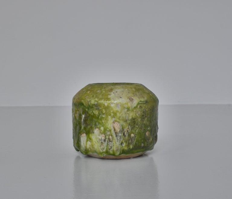Unique Set of Green Stoneware Vases by Ole Bjørn Krüger, 1960s Danish Modern For Sale 4