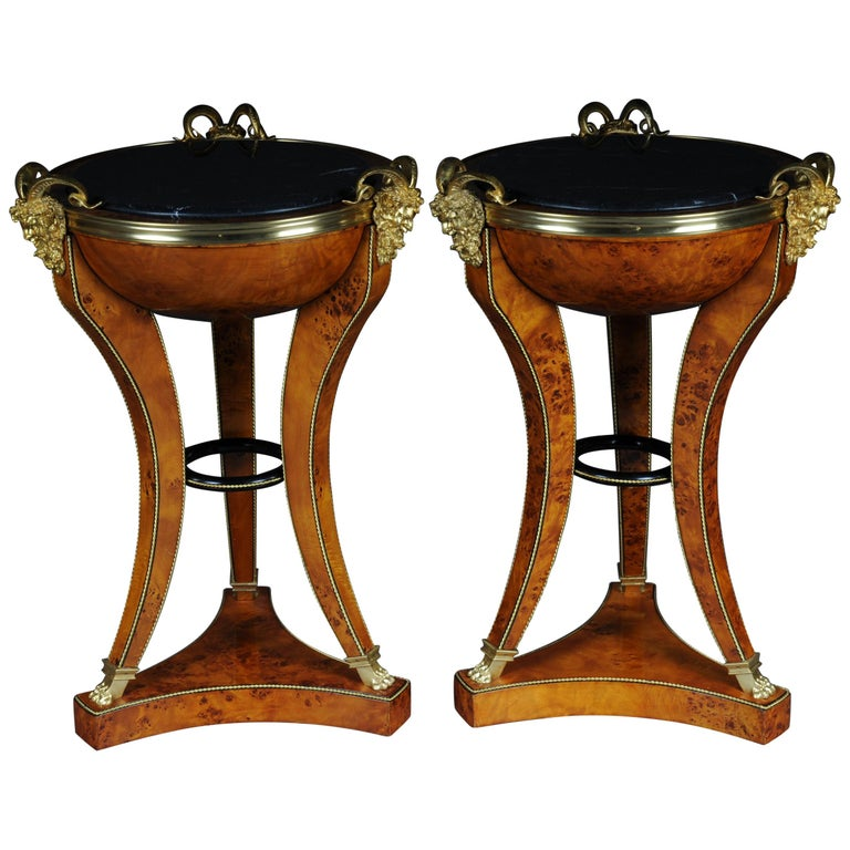 Unique Side Table or Pillar in the Empire Style For Sale