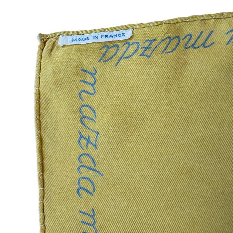 Unique Silk Scarf by Jean Picart Le Doux, France, 1950s For Sale 1