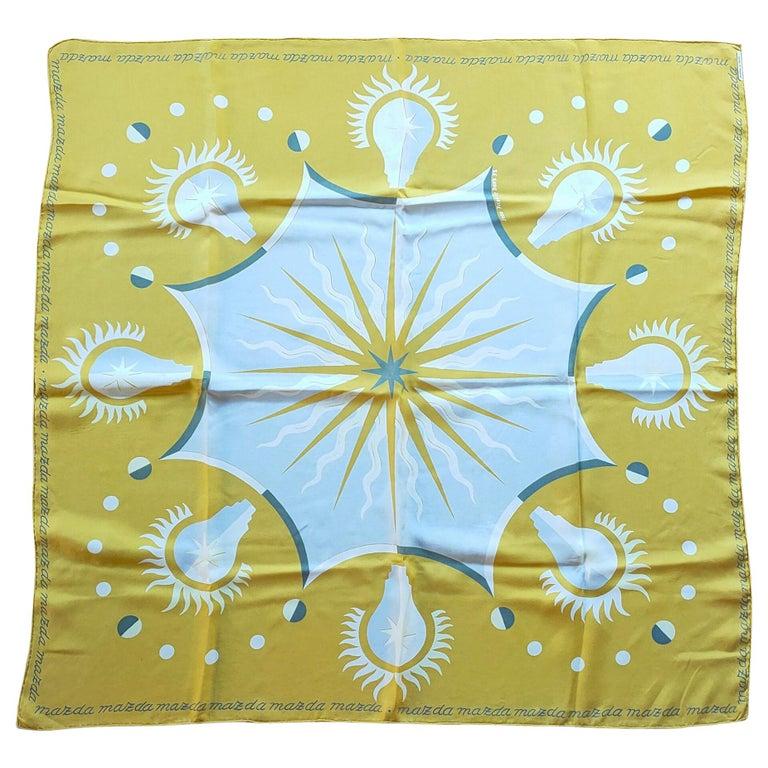 Unique Silk Scarf by Jean Picart Le Doux, France, 1950s For Sale