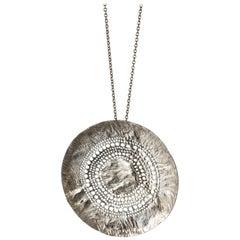 Unique Silver Necklace by Liisa Vitali, Finland, 1960s