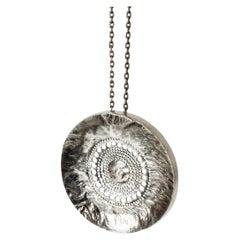 Unique Silver Pendant by Liisa Vitali, Finland, 1960s