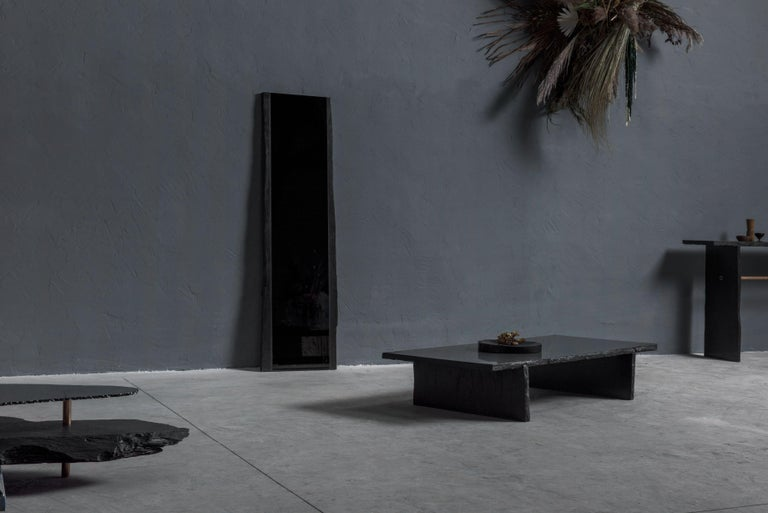 Unique Slate Sculpted Coffee Table by Frederic Saulou For Sale 5