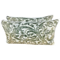 Unique Soft Green Vintage Fortuny Pillows