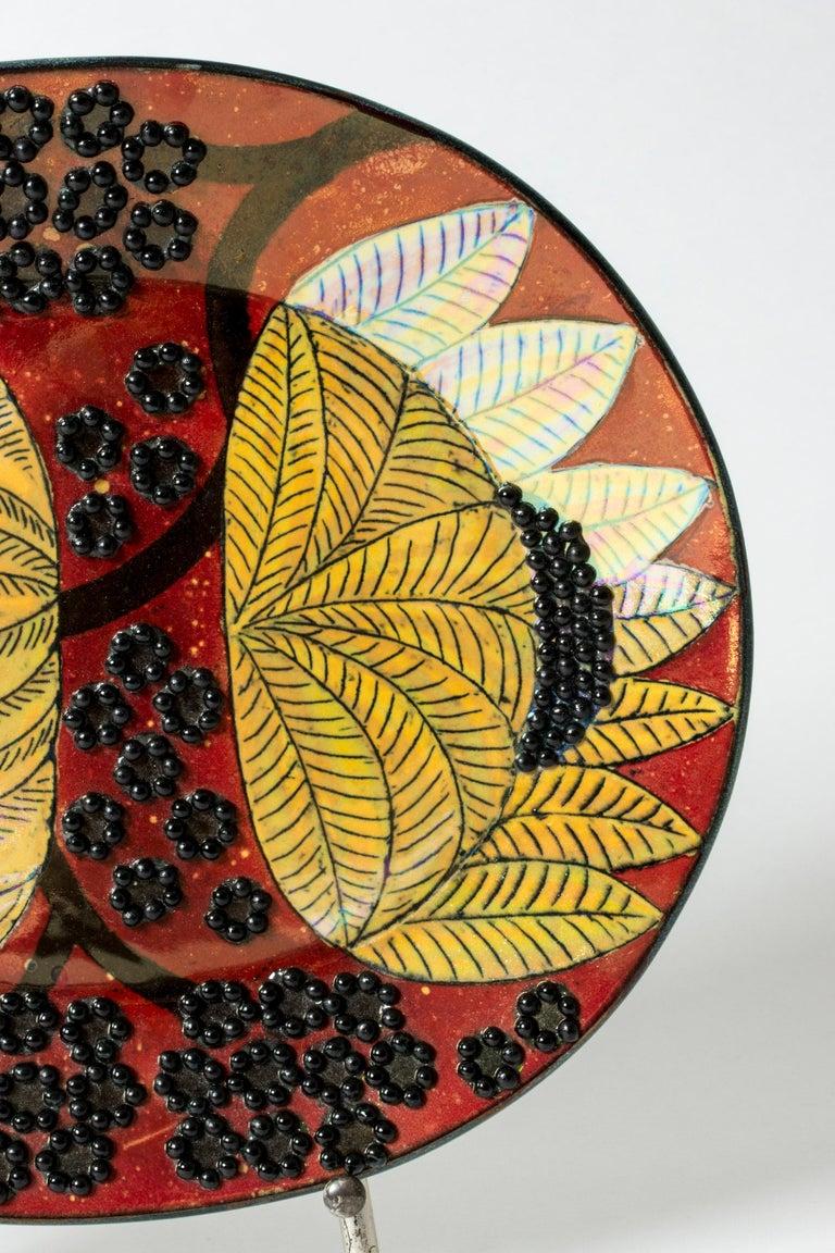 Scandinavian Modern Unique Stoneware Platter by Birger Kaipiainen for Arabia, Finland, 1960s For Sale