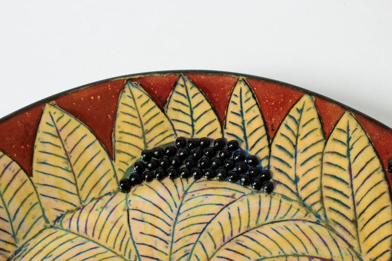 Mid-20th Century Unique Stoneware Platter by Birger Kaipiainen for Arabia, Finland, 1960s For Sale