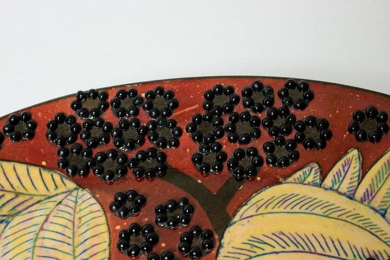 Ceramic Unique Stoneware Platter by Birger Kaipiainen for Arabia, Finland, 1960s For Sale