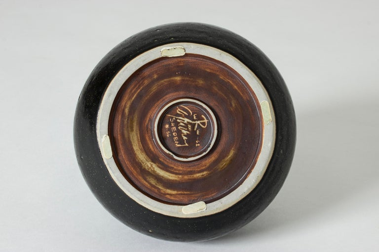 Unique Stoneware Vase by Carl-Harry Stålhane for Rörstrand, Sweden For Sale 2
