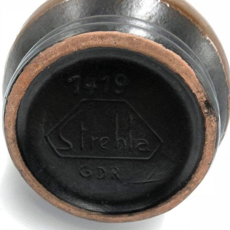 Unique Strehla East Germany, 1950 'GDR' Ceramic Vase For Sale 1
