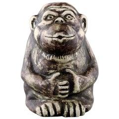 Unique Sven Wejsfelt, Monkey in Ceramics
