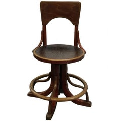 Unique Thonet Desk Chair, Museum Piece