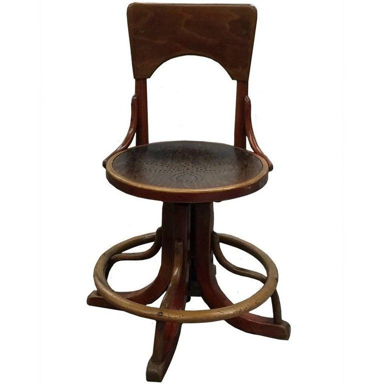 Unique Thonet Desk Chair, Museum Piece For Sale At 1stdibs