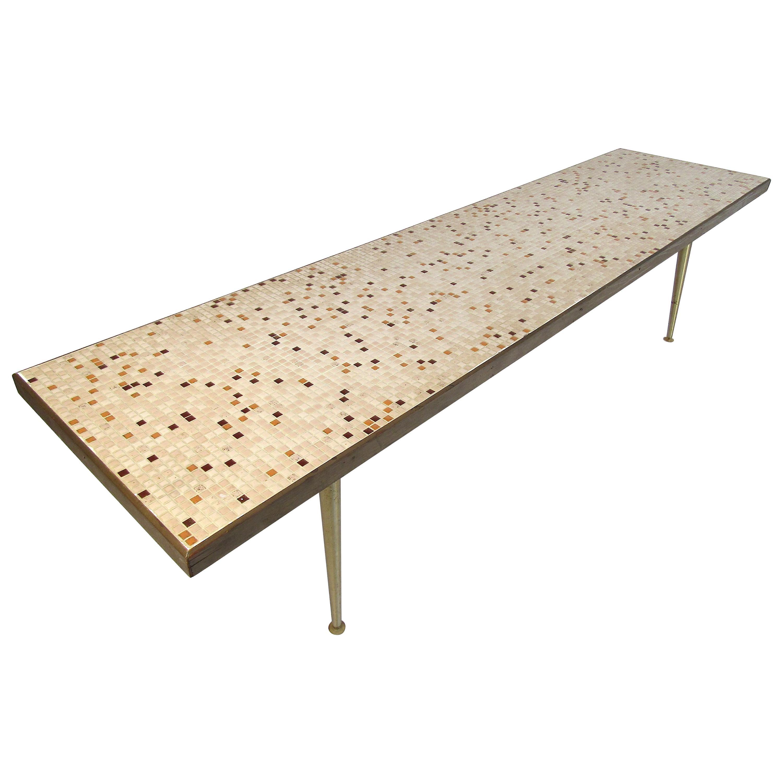 Unique Tile-Top Mosaic Coffee Table