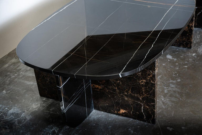 Post-Modern Unique Trilithon Marble Coffee Table, by Oskar Peet and Sophie Mensen For Sale