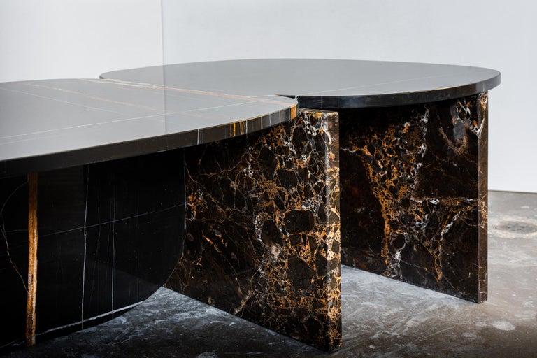 Dutch Unique Trilithon Marble Coffee Table, by Oskar Peet and Sophie Mensen For Sale