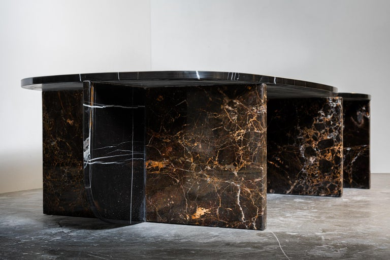 Contemporary Unique Trilithon Marble Coffee Table, by Oskar Peet and Sophie Mensen For Sale
