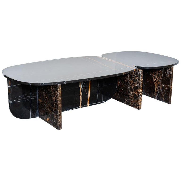 Unique Trilithon Marble Coffee Table, by Oskar Peet and Sophie Mensen For Sale
