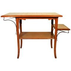 Unique Victor Horta Art Nouveau Side Table, 1900
