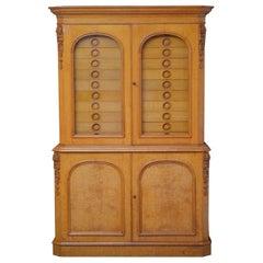 Unique Victorian Reformed Gothic Specimen Cabinet in Oak