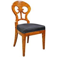Unique Viennese Chair in Biedermeier Style