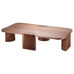 Unique Walnut Caravel Center Table by Collector