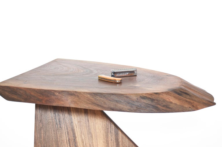 Unique Walnut Signed Table by Jörg Pietschmann For Sale 4