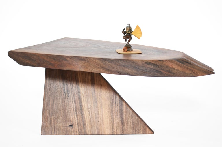 Unique Walnut Signed Table by Jörg Pietschmann For Sale 5
