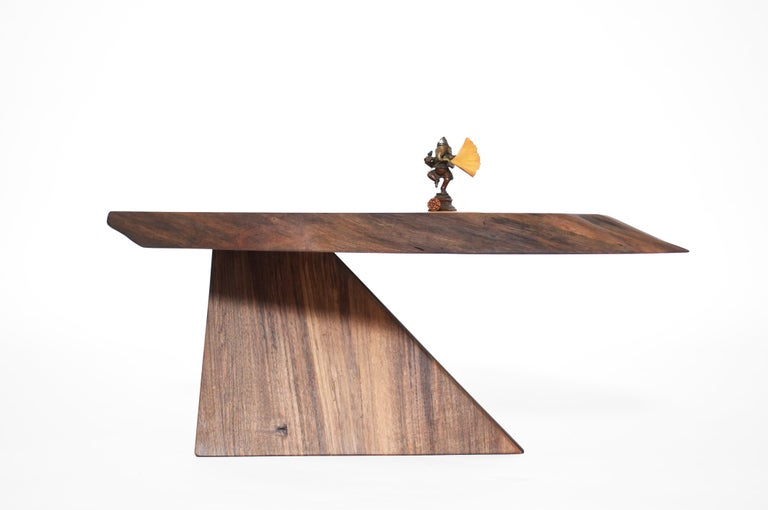 Unique Walnut Signed Table by Jörg Pietschmann For Sale 6