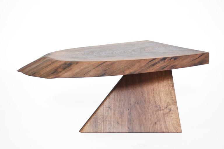 Unique walnut signed table by Jörg Pietschmann T2601