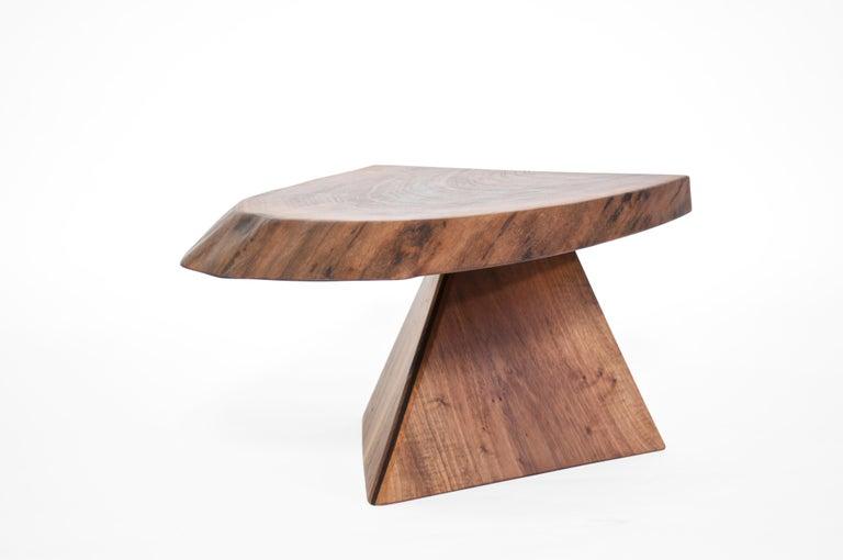 Organic Modern Unique Walnut Signed Table by Jörg Pietschmann For Sale
