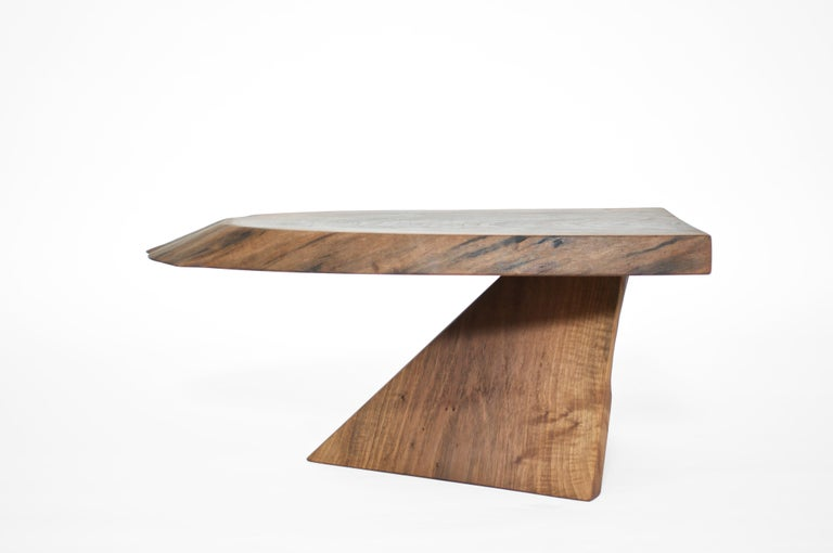 Polished Unique Walnut Signed Table by Jörg Pietschmann For Sale
